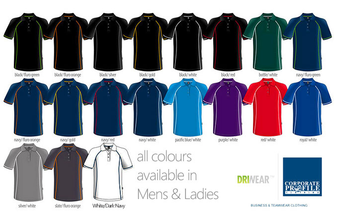 The Sports Polo #1300 by Aussie Pacific is an impressive sports shirt featuring the latest athletic DriWear sportswear fabric technology.  Features moisture wicking properties, lightweight 160 gram is strong,  soft and great styling for workwear and teamwear requirements. Logo Embroidery and Printing service is also available for your logo.  For all the details the best idea is to FreeCall 1800 654 990