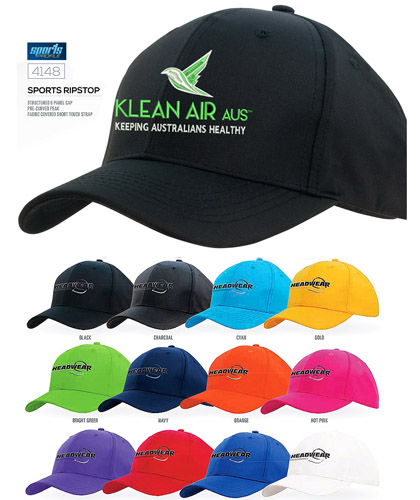 The Intensity Sports Cap #4148 With Logo Service. This cap is available in 12 vibrants sports team colours and matches with our ranges of tees, polo and jackets. The cap is lightweight and super comfortable to wear...it has a good shape and fits well for Adults and Kids with a velcro adjuster. enquiries Call Free 1800 654 990